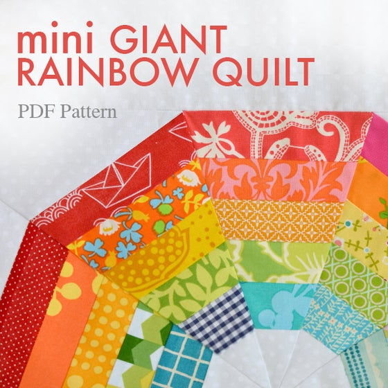 Image of mini Giant Rainbow Quilt