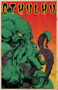 Image of Vintage Cthulhu Print #1