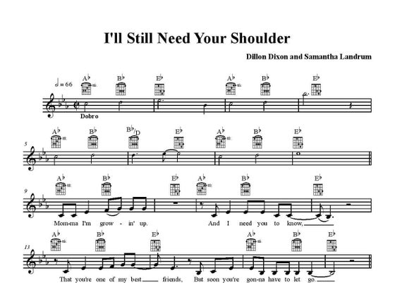 "Image of Samantha Landrum ""I'll Still Need Your Shoulder"" Sheet Music"