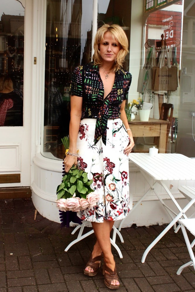 Image of Floral A line Midi Skirt