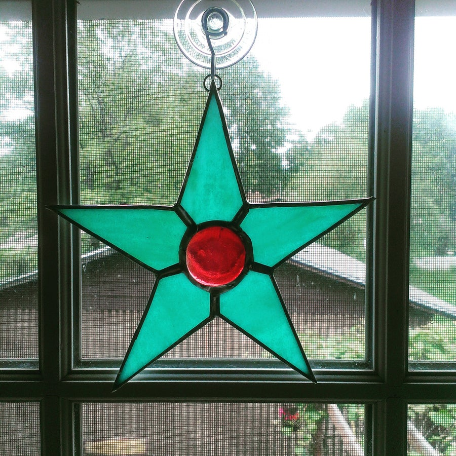 Image of Turquoise/ Red star