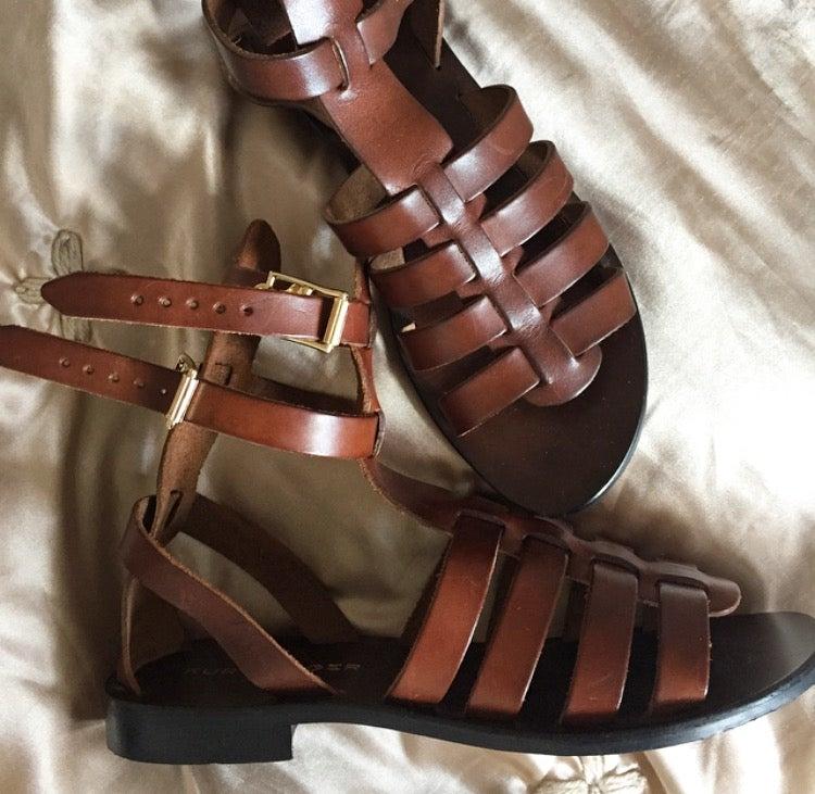 Image of Leather Gladiator Sandals Kurt Geiger London