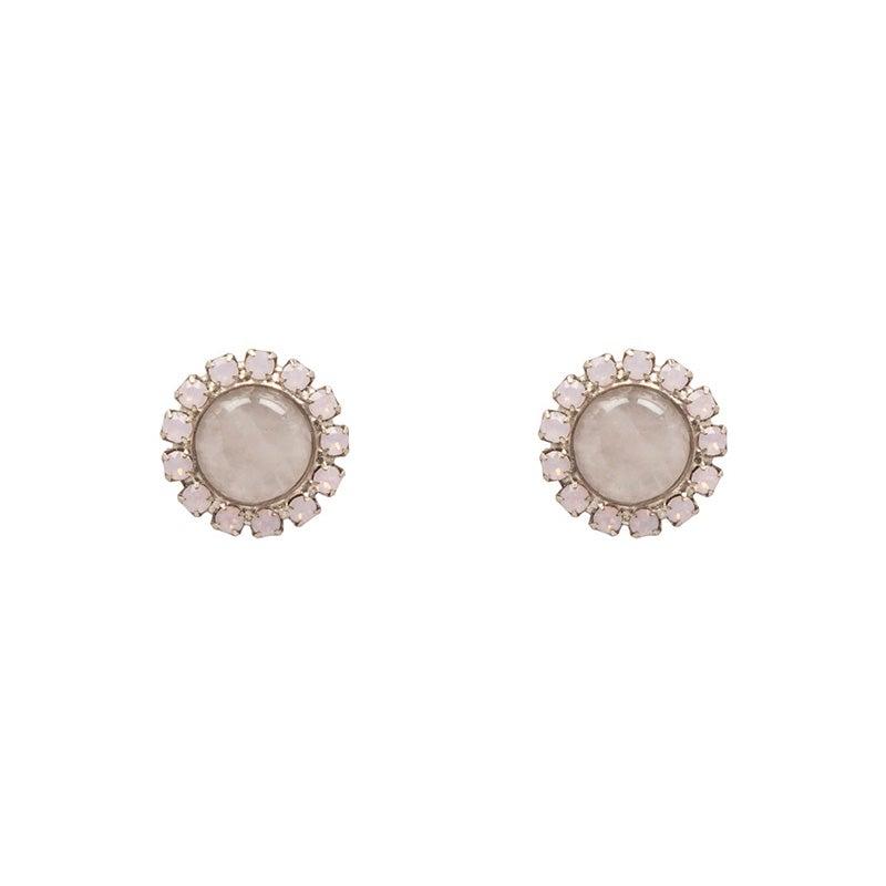 Image of Rose Quartz Satellite Stud Earrings