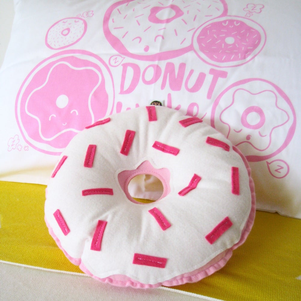 Image of COLOUR DONUTS - LIGHT PINK WITH WHITE FROSTING
