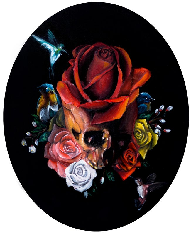 "Image of ""Entre las flores "" (Giclee Print) limited Signed"