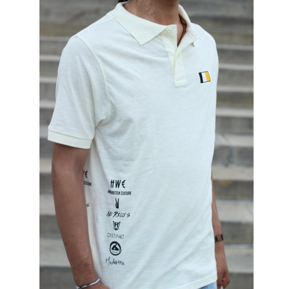 Image of Natural Handwritten Culture & Company Polo