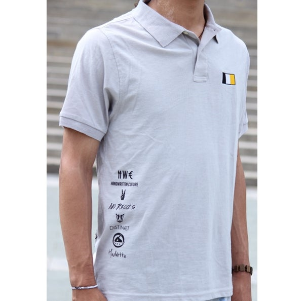 Image of Grey Handwritten Culture & Company Polo