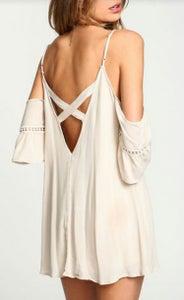 Image of Cute cross lace hollow out chiffon dress