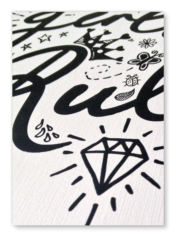 Image of Girls Rule art print - Black