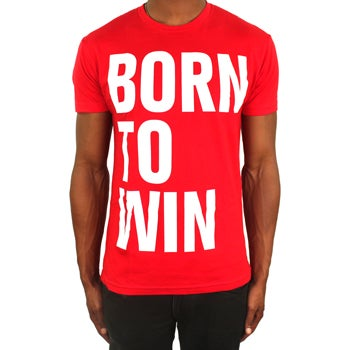 Image of Born to Win Tee (Red/White)