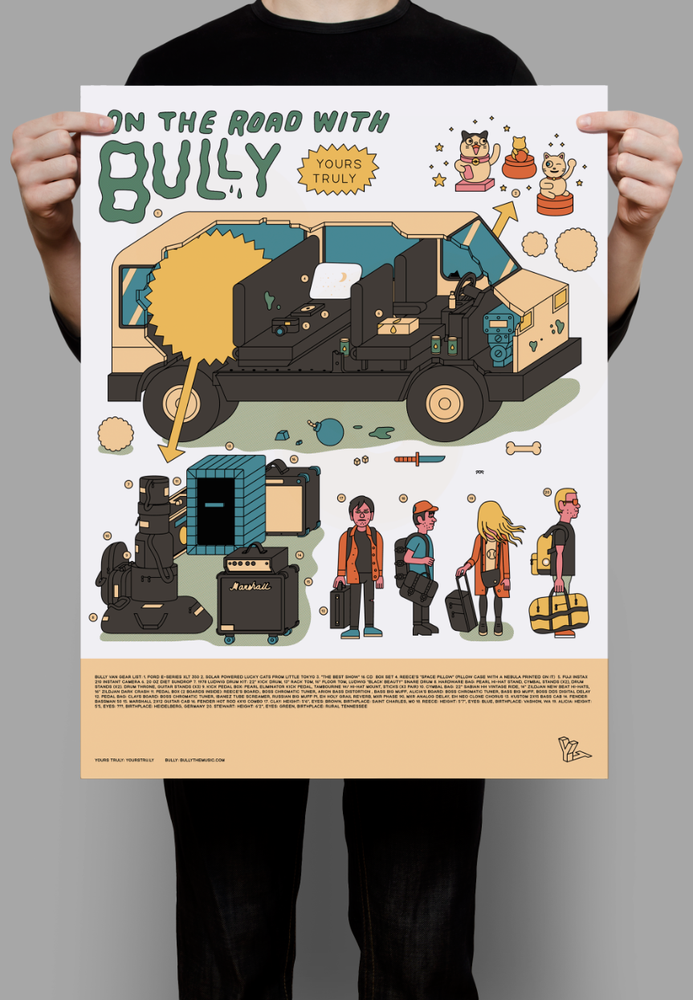 Image of Bully x Yours Truly Tour Van Poster