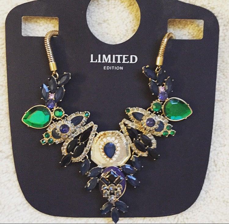 Image of Gem Embellished Dress Necklace