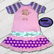 Image of **SOLD OUT**Tickled Pink Rainbow Brite character double ruffle Dress - Size 5/6