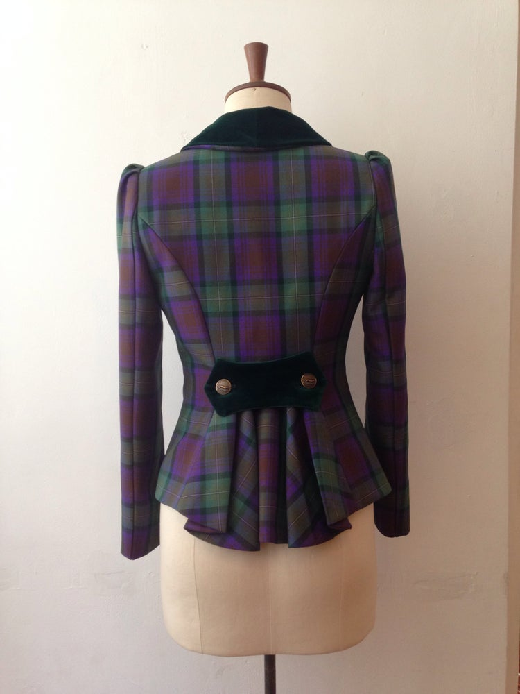 Image of Velvet and tartan show jacket