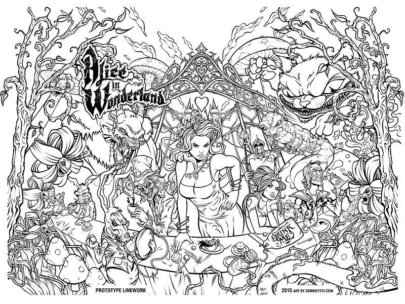 Image of Alice In Wonderland Edition of 100 Prints