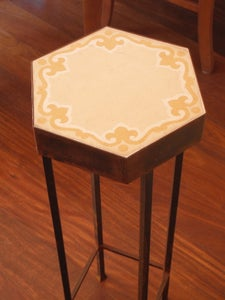 Image of Hexagonal ochre plant stand