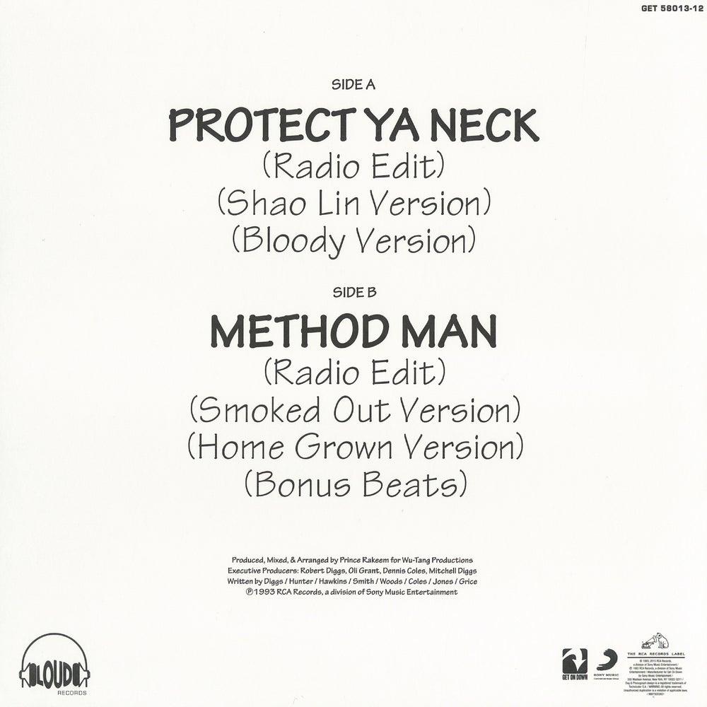 Image of WU-TANG CLAN-PROTECT YA NECK/MEDTHOD MAN (SPLIT COLOR YELLOW & BLACK VINYL)
