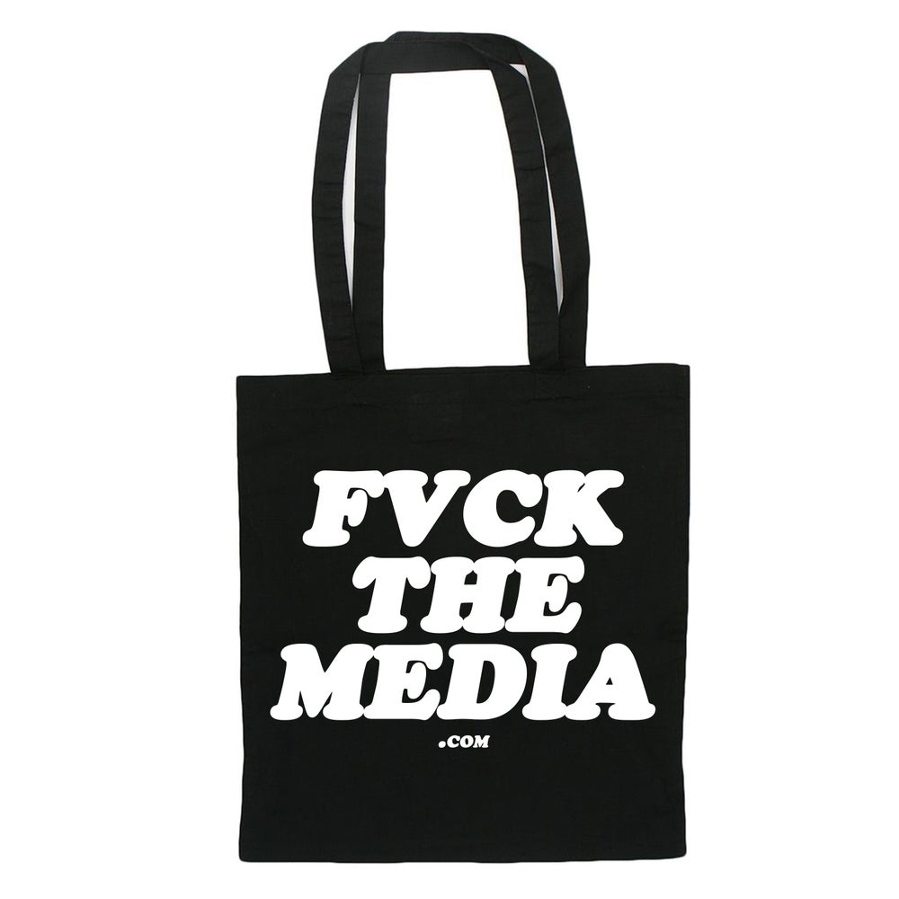 "Image of ""FVCK THE MEDIA"" TOTE BAG"