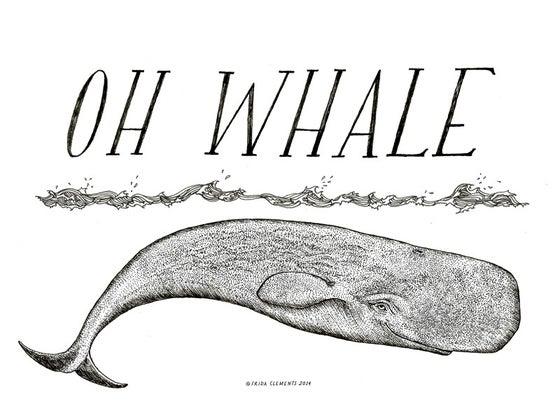 Image of Oh Whale / Mini Print