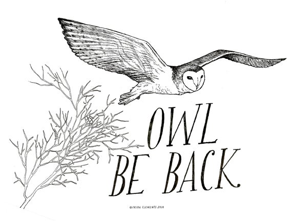 Image of Owl Be Back / Mini-Print