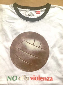 Image of Big Ball No Alla Violenza White Ringer T