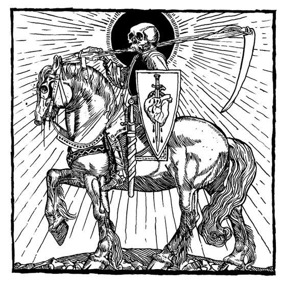 Image of Black Anvil original drawing