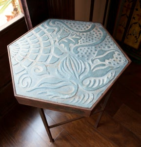 Image of Large Gaudi designed tile table