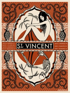 Image of St. Vincent Summer Tour Poster