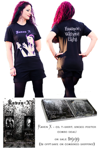 Image of Raven X - CD/T-Shirt/Poster Package