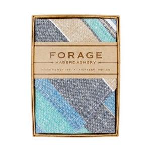 Image of blue stripes {handkerchief}