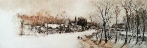 """Image of """"Winter In The Village"""", Sussex, England"""