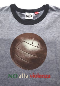 Image of Big Ball No Alla Violenza Grey Ringer T