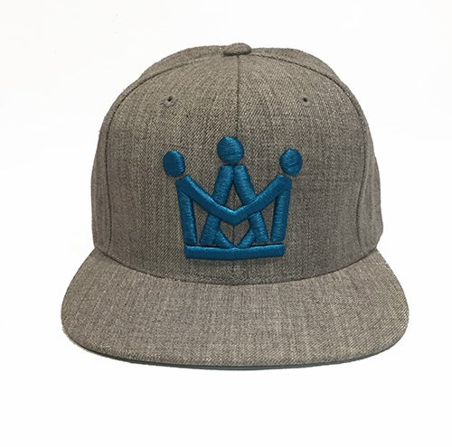 Image of HEATHER GREY CROWN SNAPBACK