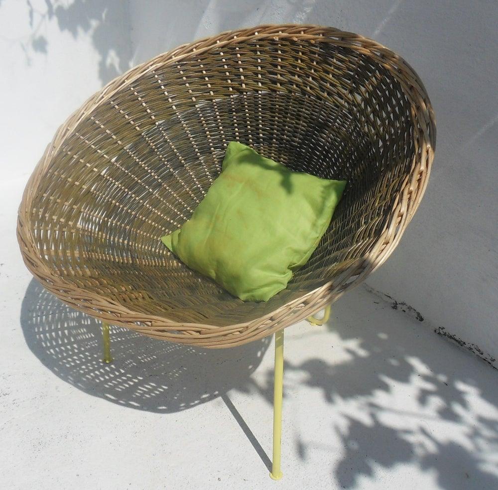 """Image of Fauteuil Osier corbeille - """"vert Sardat"""""""
