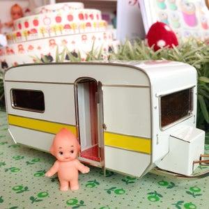 Image of Tin toy caravan