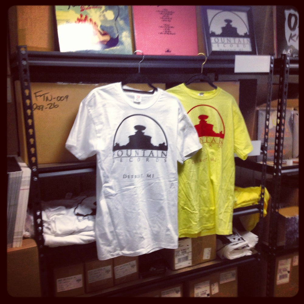 Image of Fountain Records Classic Logo Tee
