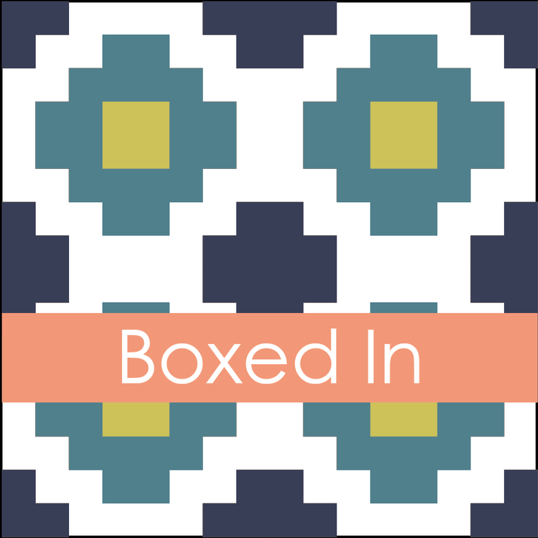 Image of Boxed In Mini Quilt #114, PDF Patten