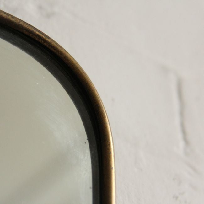 Image of Large Italian Brass Mirror