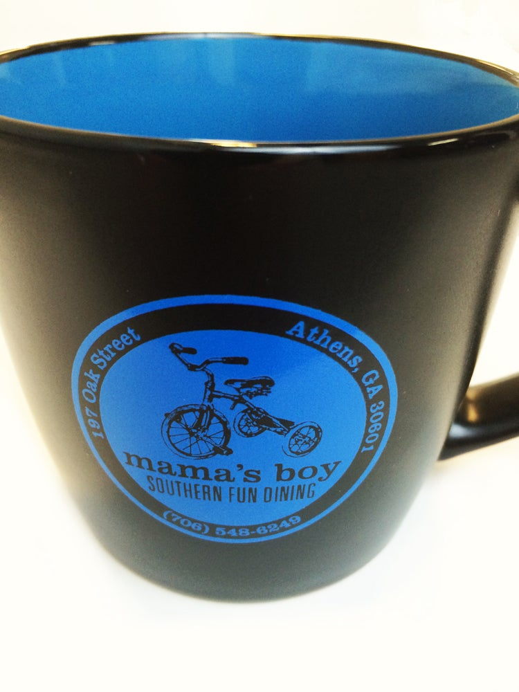 Image of Mama's Boy Coffee Mug - Black/Blue
