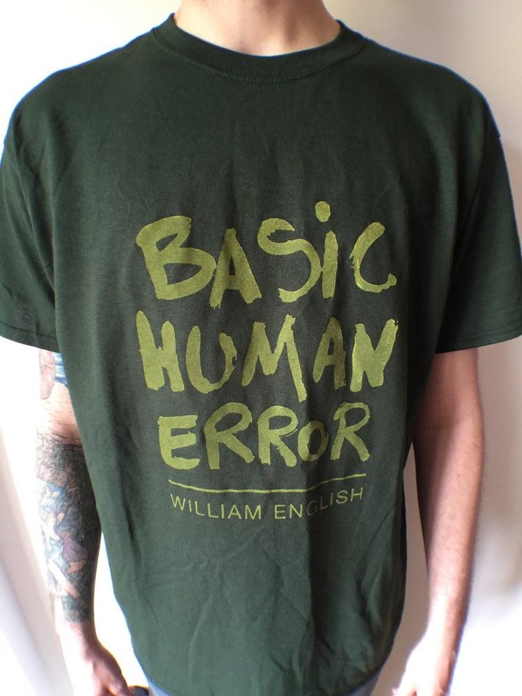 Image of William English - yellow - Basic Human Error Tee - free cd