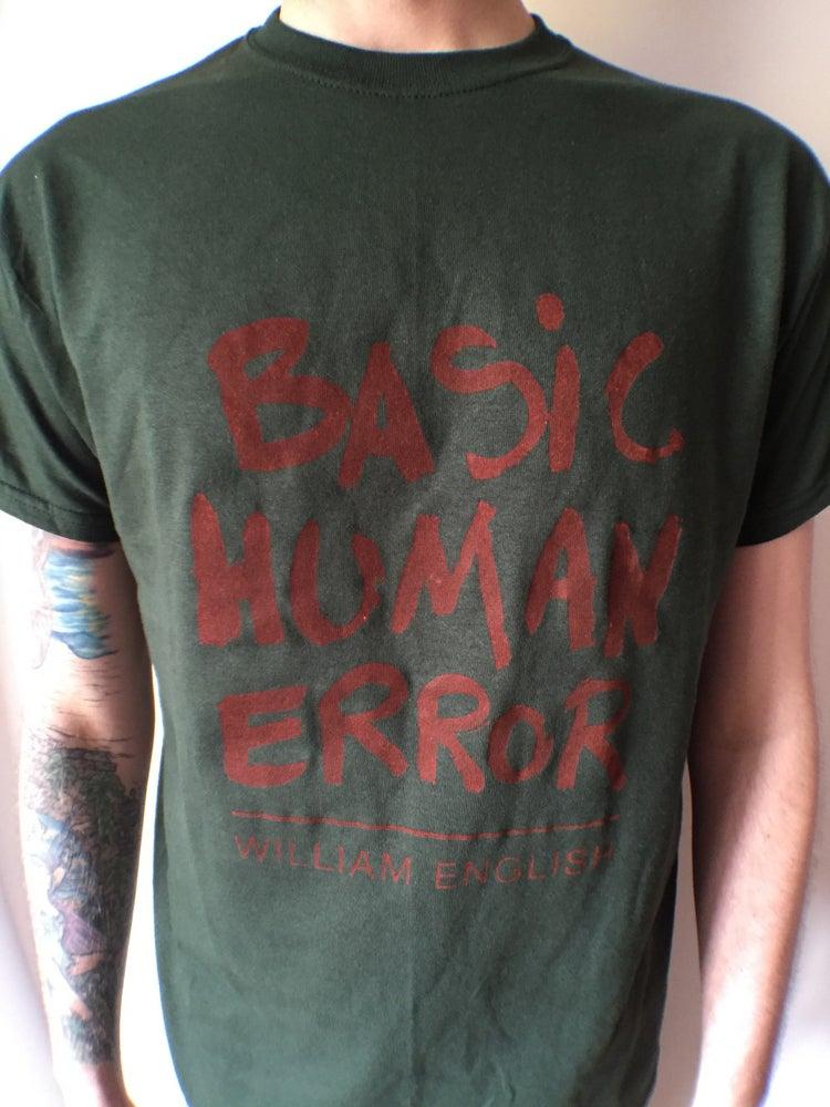 Image of William english - red - basic human error tee - free cd
