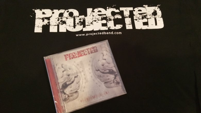 Image of Projected Tee and CD (INTERNATIONAL)
