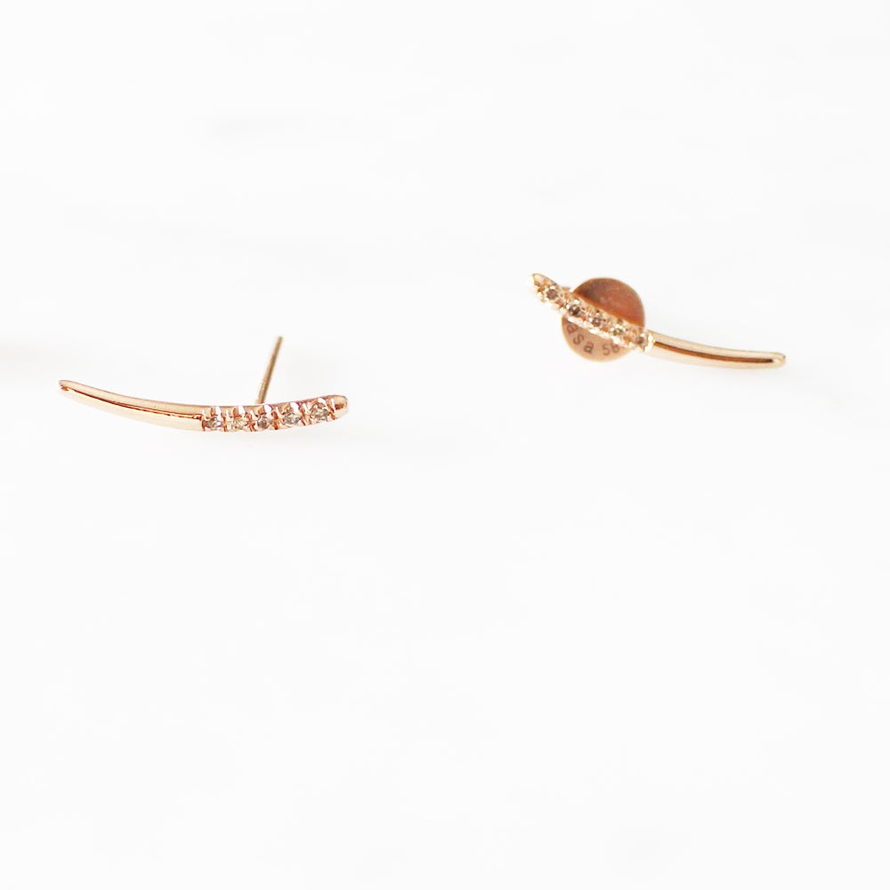 Image of Dewy Orchid Arc Earring