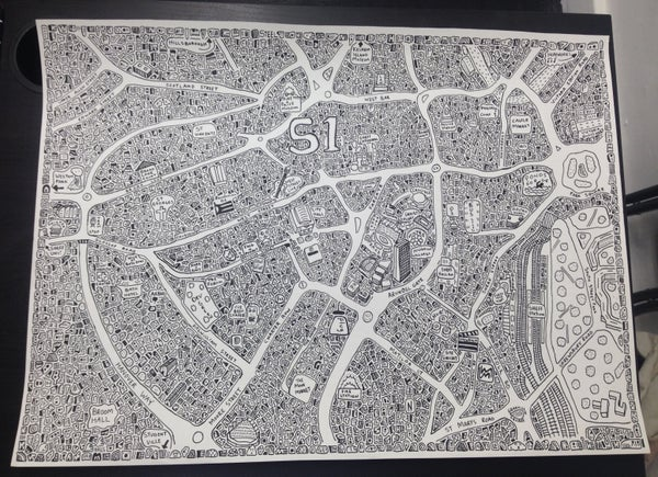 Image of Sheffield Doodle Map