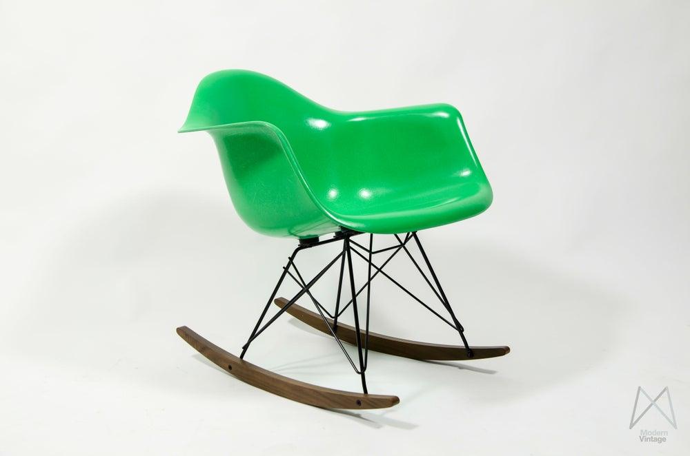 eames furniture eames herman miller rocking chair rar kelly green