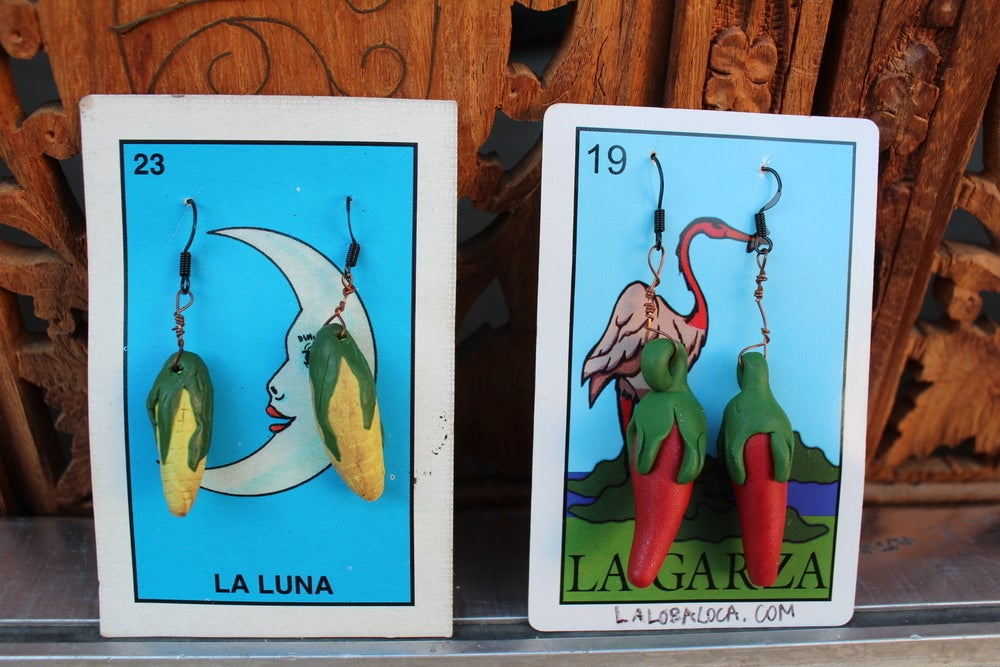 Image of Ajis, Choclos & Nopales Handcrafted Earrings