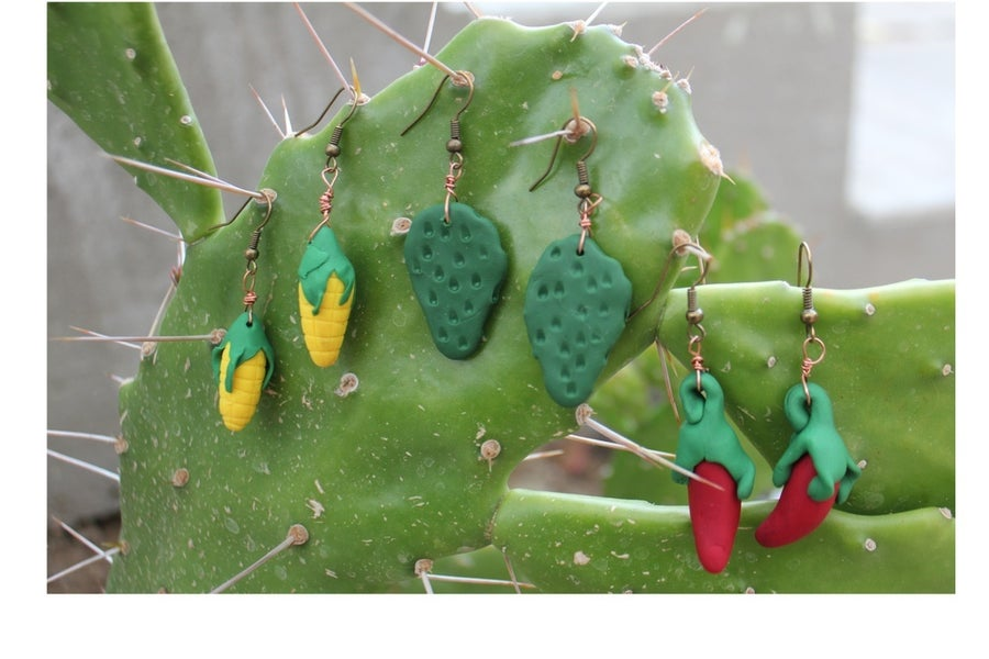 Image of Ajis, Choclos & Nopales Handcrafted Earrings