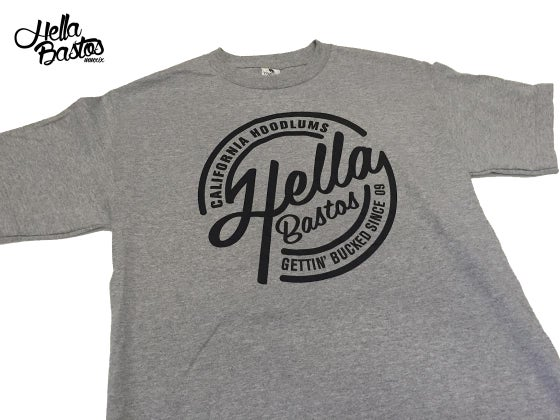 Image of HB Cali Hoodlum T-Shirt (Grey)