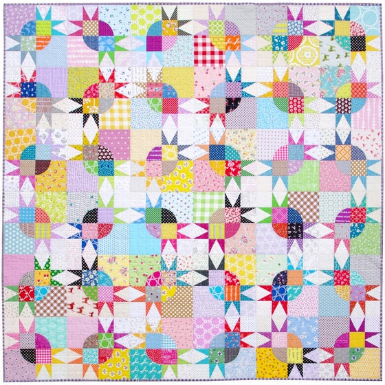Image of Pickle Dish Variation Quilt - Templates and Foundation Paper Piecing Pattern