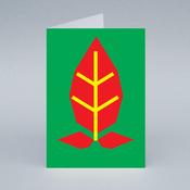 Image of Poinsettia card